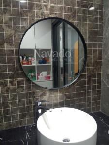 Gương nhà tắm tròn trang trí